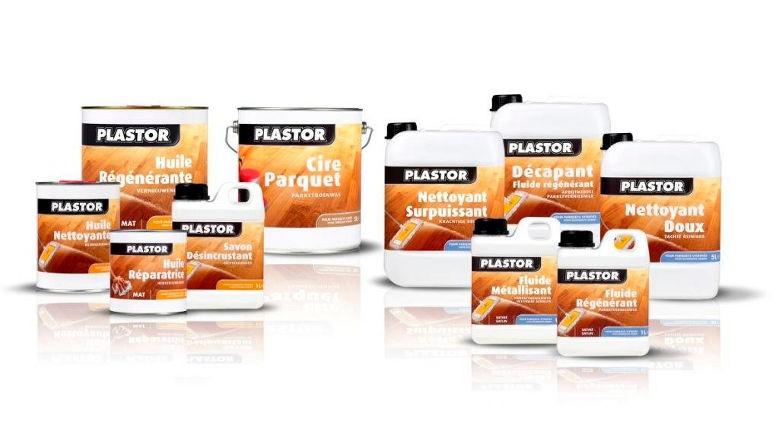 Gamme de produits d'entretien Plastor