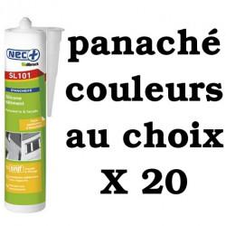 Silicone Bâtiment Nec+Illbruck SL101 X20 panaché