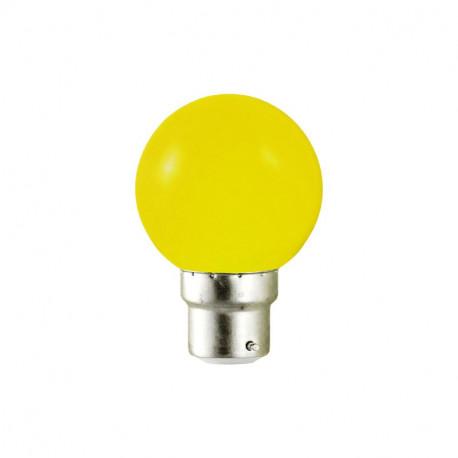LED 0.8 WATT BULB B22 JAUNE BOITE