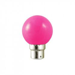LED 0.8 WATT BULB B22 ROSE BOITE