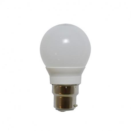 LED 2 WATT G50 BULB GLOBE B22 230V RGB BOITE