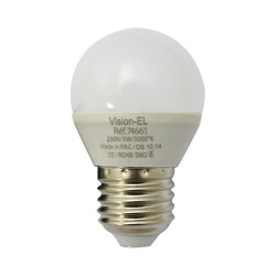 LED 3 WATT G45 BULB E27 3000°K CERAMIC DEPOLI BLISTER 100-250V