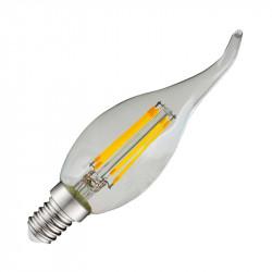LED FIL COB COUP DE VENT E14 4W 6000°K CLAIRE BOITE