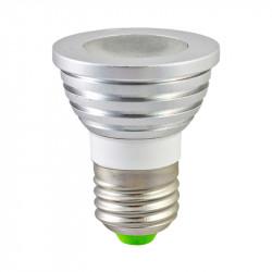LED 3 WATT E27 RGB + TELECOMMANDE BLISTER