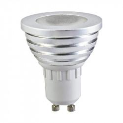 LED 3 WATT GU10 RGB + TELECOMMANDE BLISTER