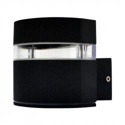 APPLIQUE MURAL LED 3W 230V 3000°K ANTHRACITE IP54 ARRONDI