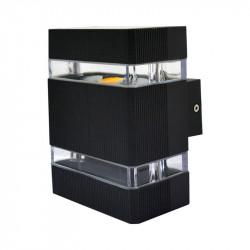 APPLIQUE MURAL LED 6W 230V 3000°K ANTHRACITE IP54 PLAT