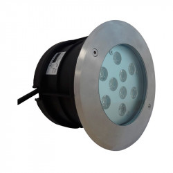 SPOT LED ENCASTRABLE SOL 10W 230V 4500°K IP67 ROND INOX