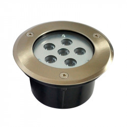 SPOT LED ENCASTRABLE SOL 6W 230V 4500°K IP67 ROND INOX