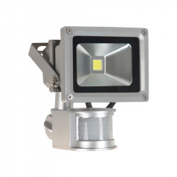 PROJECT LED VISION-EL 230 V 10 WATT 6000°K GRIS + DETECT IP65
