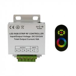 TELECOMMANDE 20M RF + CONTROLEUR LED RGB 216 W 12V/24V DC
