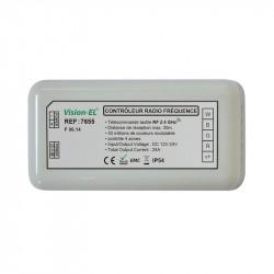 CONTROLEUR RADIO FREQUENCE 4 ZONES RGB + BLANC DC 12-24V