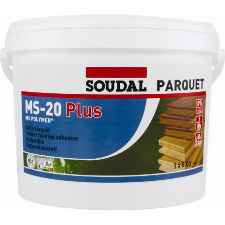 Colle parquet Soudal MS-20 PLUS 18kg (3 x 6kg)